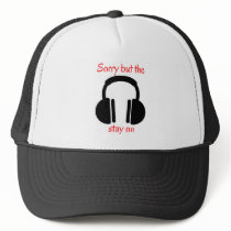 Noise cancelling headphones trucker hat