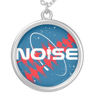 Noise Music Round Pendant Necklace