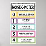 """Noise-O-Meter Classroom Management Teacher Sign<br><div class=""""desc"""">Noise-O-Meter Classroom Management Teacher Sign to post in a classroom.</div>"""