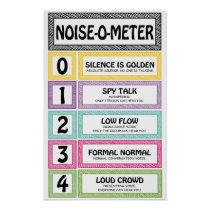 Noise-O-Meter Classroom Management Teacher Sign