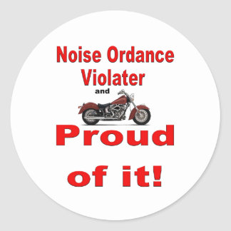 noise ordance- classic round sticker