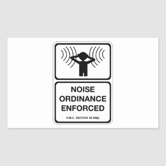Noise Ordinance Enforced (2), Sign, Colorado, US Rectangular Sticker