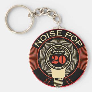 Noise Pop 20 Basic Round Button Keychain