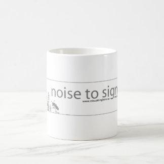 Noise to Signal Classic White Coffee Mug