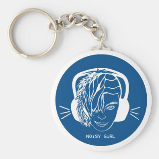 Noisy Girl Basic Round Button Keychain