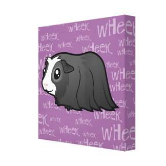 Noisy Guinea Pig (long hair) Canvas Print