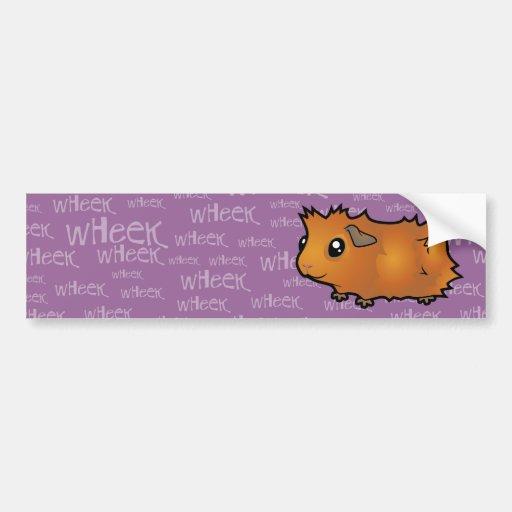Noisy Guinea Pig (scruffy) Car Bumper Sticker