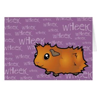 Noisy Guinea Pig (scruffy) Greeting Card