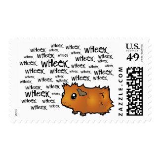 Noisy Guinea Pig (scruffy) Postage Stamp