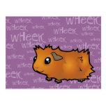 Noisy Guinea Pig (scruffy) Postcard