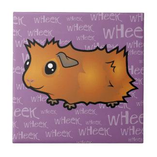 Noisy Guinea Pig (scruffy) Small Square Tile