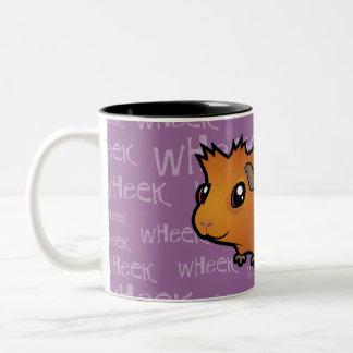 Noisy Guinea Pig (scruffy) Two-Tone Coffee Mug