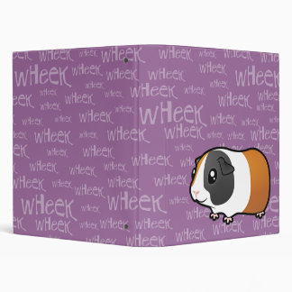 Noisy Guinea Pig (smooth hair) 3 Ring Binder