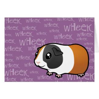 Noisy Guinea Pig (smooth hair) Greeting Card