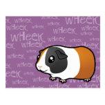 Noisy Guinea Pig (smooth hair) Postcard