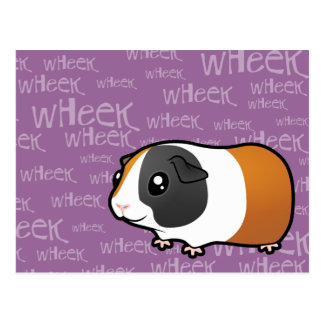 Noisy Guinea Pig (smooth hair) Postcard