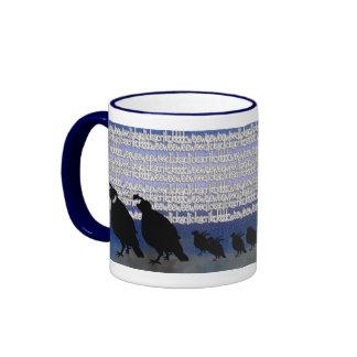 noisy quail ringer coffee mug