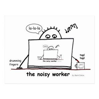 Noisy Worker Postcard