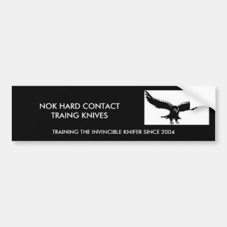 NOK HARD CONTACT TRAING KNIVES, T... CAR BUMPER STICKER