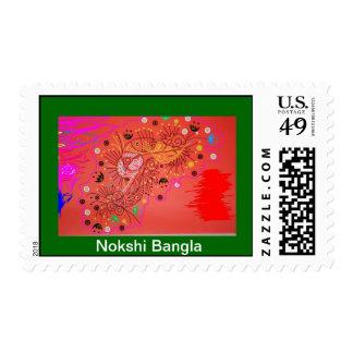 Nokshi Heart Postage Stamp