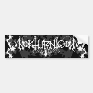Nokturnicon-As The Windows to the soul turn to Bla Bumper Stickers