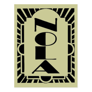 NOLA Art Decco Design Postcard