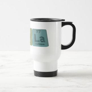 Nola as Nitrogen Oxygen Lanthanum 15 Oz Stainless Steel Travel Mug