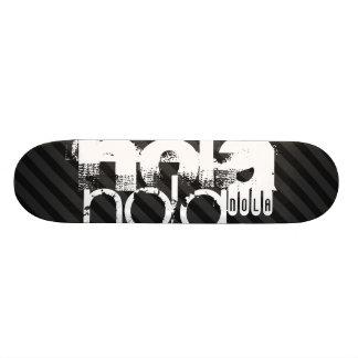 Nola; Black & Dark Gray Stripes Skateboard