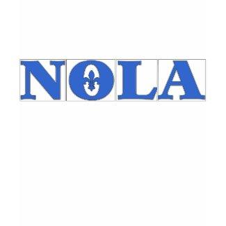NOLA Blue TIles Fleur de Lis shirt