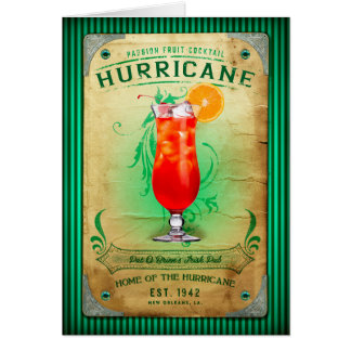 NOLA Collection Hurricane Cocktail Greeting Card