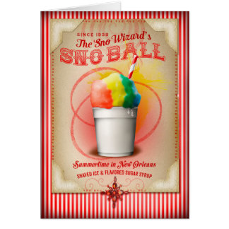 NOLA Collection Snoball Artwork Greeting Card