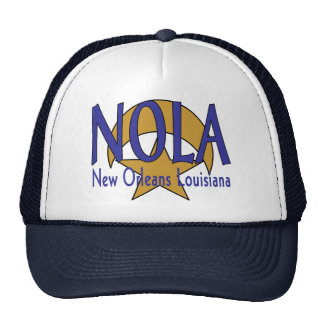 NOLA Cresent and Star Design Trucker Hat