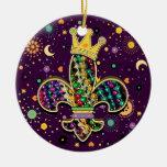 NOLA Dat Fleur de es gotas Ornamentos De Navidad