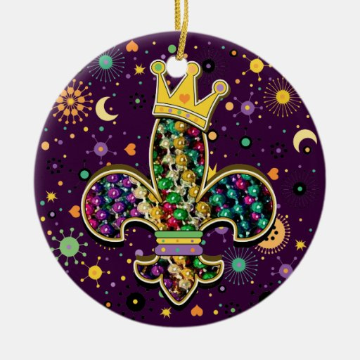 NOLA Dat Fleur de is beads Christmas Tree Ornaments
