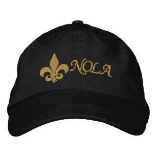 29fdb7579b7023 NOLA - Fleur De Lis Embroidered Baseball Hat