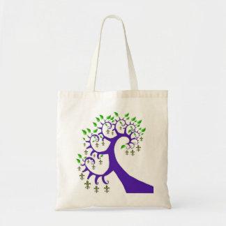 NOLA FLEUR DE LIS TREE TOTE BAGS