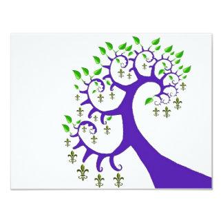 NOLA FLEUR DE LIS TREE CARD