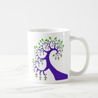 NOLA FLEUR DE LIS TREE COFFEE MUG
