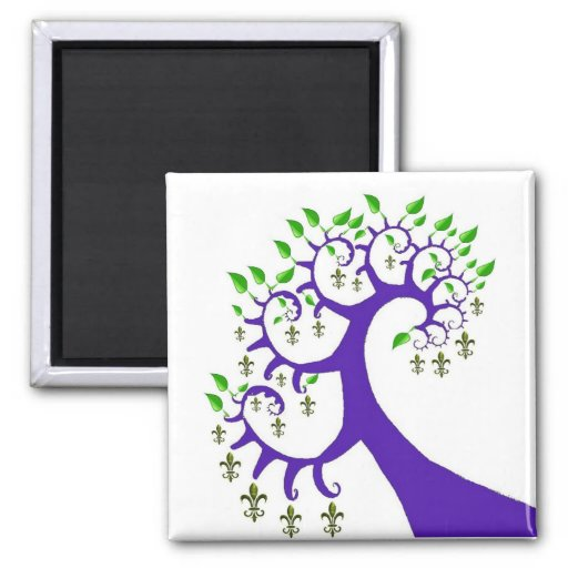 NOLA FLEUR DE LIS TREE MAGNETS