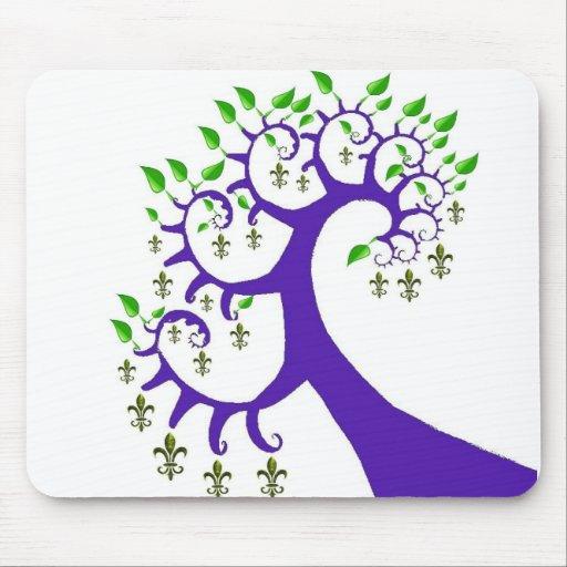 NOLA FLEUR DE LIS TREE MOUSE PAD