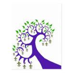 NOLA FLEUR DE LIS TREE POST CARD