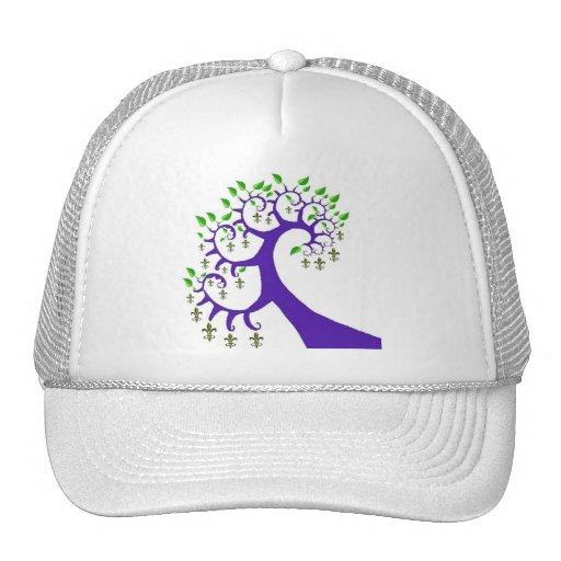 NOLA FLEUR DE LIS TREE TRUCKER HAT