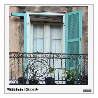 NOLA French Quarter balcony wall decal