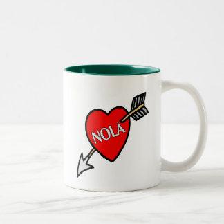 NOLa Heart Two-Tone Coffee Mug
