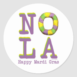 NOLA King Cake Classic Round Sticker
