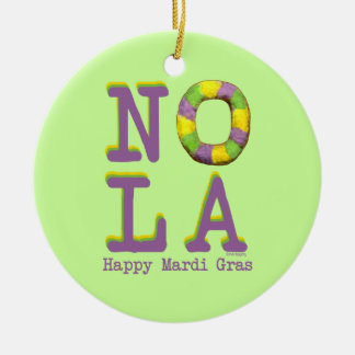 NOLA King Cake gifts Ceramic Ornament