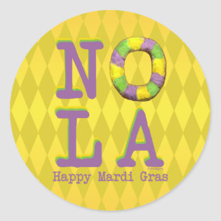 NOLA King Cake gifts Classic Round Sticker
