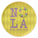 NOLA King Cake gifts Dinner Plates