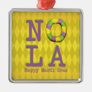 NOLA King Cake gifts Metal Ornament