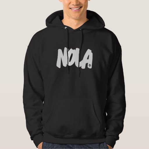 NOLA Letters Hooded Pullovers